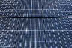 Solar cell over the blue sky Stock Photo
