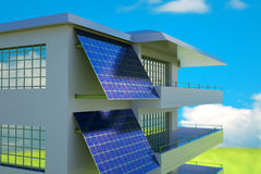 Solar cell panel Stock Images