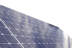 Solar cell panel with clipping path Royalty Free Stock Images