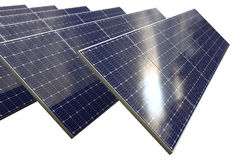 Solar cell panel with clipping path Stock Photo