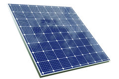 Solar cell panel with clipping path Stock Photos