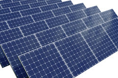 Solar cell panel with clipping path Stock Photography