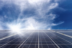 Solar cell panel on roof Stock Image