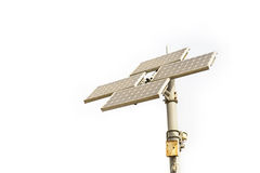 Solar cell panel tower isolated Royalty Free Stock Photo
