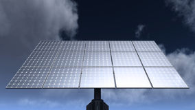 Solar cell panels Stock Image