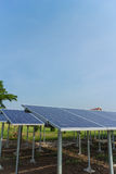 Solar cell panels in the sunlight Stock Photography