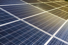 Solar cell photovoltaic panel detail and closeup Stock Photo
