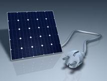 Solar Cell Plug Stock Photography