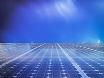 Solar cell power energy grid in  sky background Stock Photography