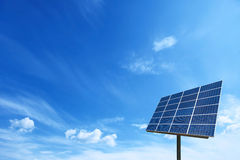 Solar cell power energy grid system in idea concept background Royalty Free Stock Images