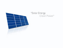 Solar cell power energy grid system in idea concept background Royalty Free Stock Image