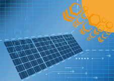 Solar cell power plant 01 Royalty Free Stock Photos