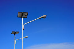 Solar cell public lamp post Stock Photos