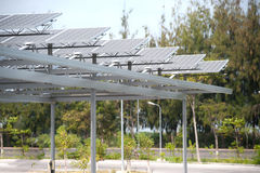 Solar cell on roof at car park. Stock Images