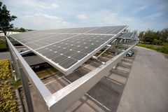 Solar cell on roof at car park. Stock Image