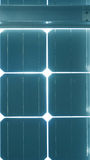 Solar cell roof underneath with blue color Stock Image