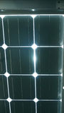 Solar cell roof underneath with blue color Stock Images