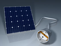 Solar Cell Socket Stock Image