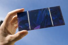 Solar Cell in sunlight Stock Photography