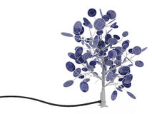 Solar Cell Tree, Connected Royalty Free Stock Images