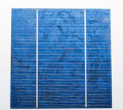 Solar cell with two bus bar Stock Images