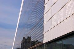 Solar cell wall. Oslo opera house stock photos