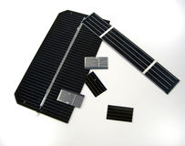 Solar cells. Pictures of portion of solar cells Royalty Free Stock Image