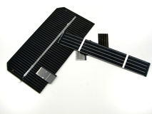 Solar cells. Pictures of portion of solar cells Royalty Free Stock Images
