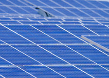 Solar Cells. A group of solar cells making clean energy Stock Photos