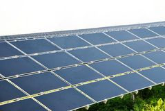Solar Cells. Alternative energy with solar cells Royalty Free Stock Images