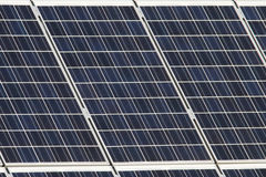 Solar cells. Closeup of solar cells on a roof Stock Image