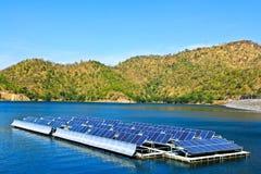 Solar cells. At the dam in Thailand Stock Photos
