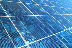 Solar Cells. Blue solar cells for power generation Stock Photos