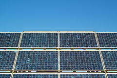 Solar Cells. Blue solar cells for power generation Royalty Free Stock Image