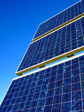 Solar Cells. Blue solar cells for power generation Royalty Free Stock Photo