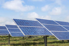 Solar cells alternative renewable energy from natural Royalty Free Stock Photos