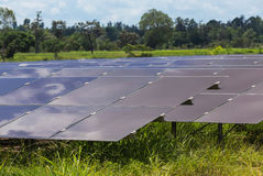 Solar cells alternative renewable energy from natural Stock Photo