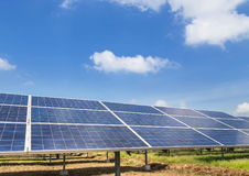 Solar cells alternative renewable energy from natural Royalty Free Stock Photo