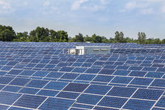 Solar cells alternative renewable energy from the sun Royalty Free Stock Image