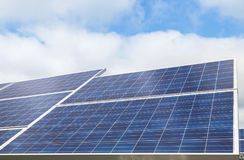 Solar cells alternative renewable energy from the sun Royalty Free Stock Images