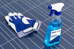 Solar cells and detergent Stock Images