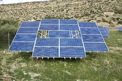 Solar cells in Greece Royalty Free Stock Photography