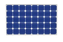 Solar cells isolated on a white background Stock Image