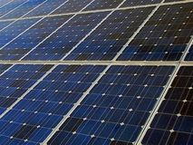Solar Cells Panel. Photovoltaic cells in solar energy panels on a power plant Stock Photography