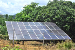 Solar cells panel in the countryside Stock Images