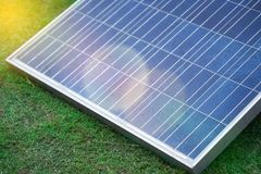 Solar cells panels, photovoltaic, alternative electricity. Royalty Free Stock Photography
