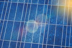 Solar cells panels, photovoltaic, alternative electricity Royalty Free Stock Image