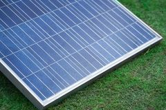 Solar cells panels, photovoltaic, alternative electricity. Stock Image