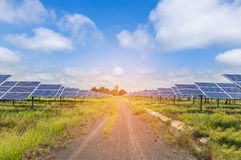 Solar cells in power station Stock Image