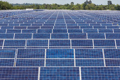 Solar cells in power station alternative renewable energy Stock Images